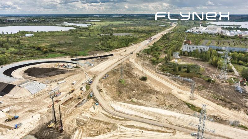 Bau Drohnenflug Aufnahme Befliegung BVLOS