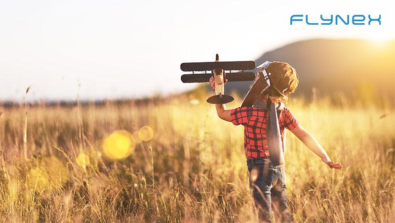 Junge Pilot Fliegen