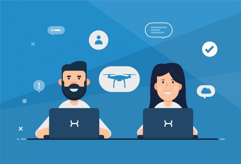 Job Grafik Initiativbewerbung Karriere Start-up