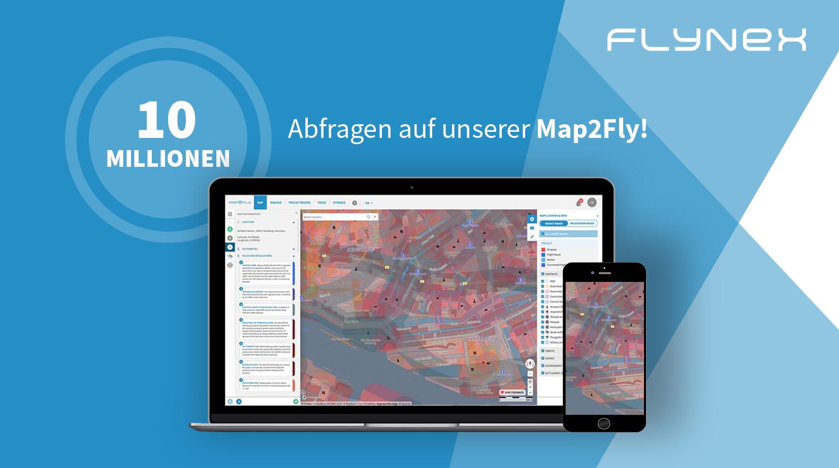 10 Millionen Abfragen auf der Map2Fly