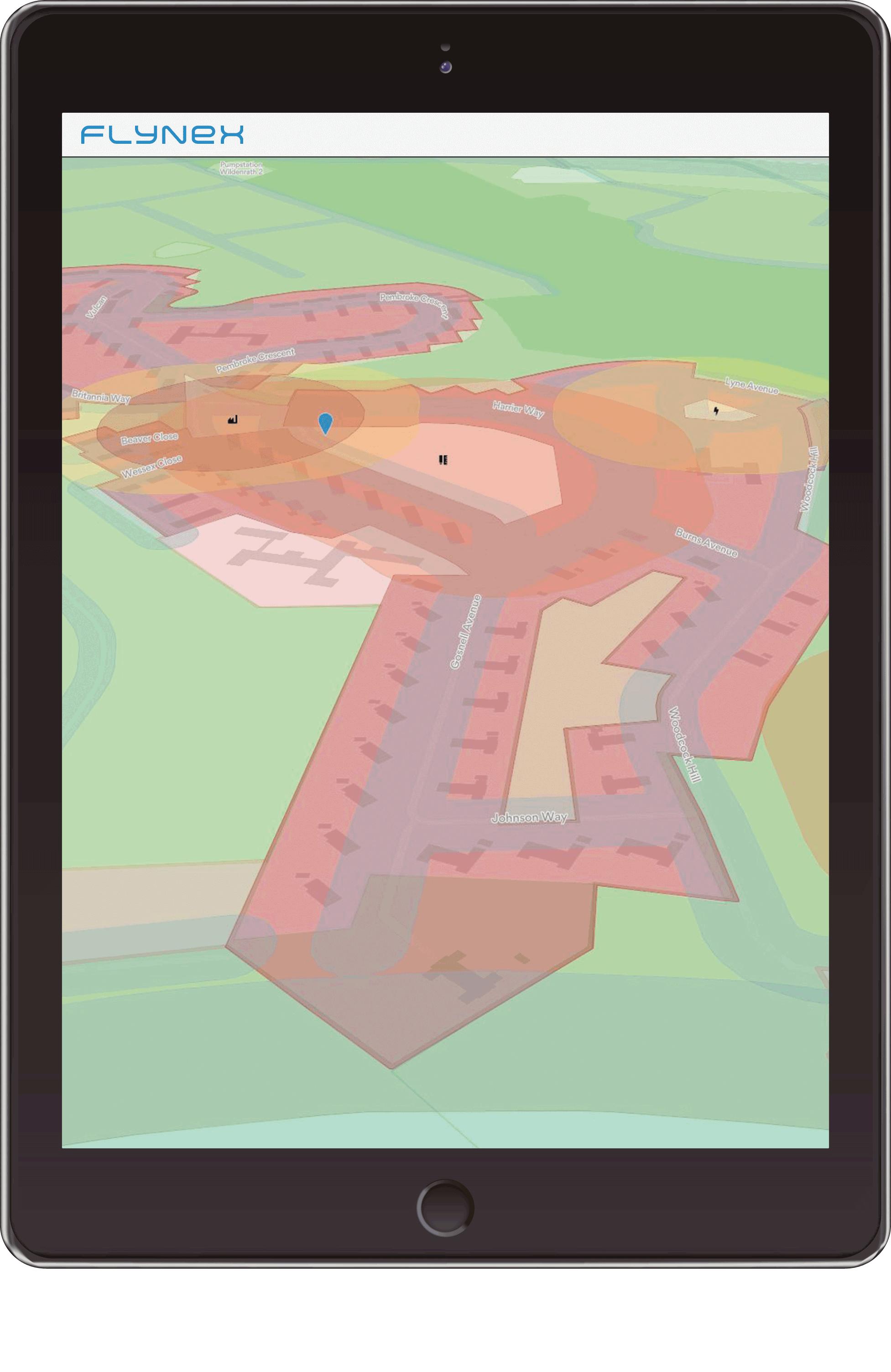 Abbildung Map2Fly Tablet