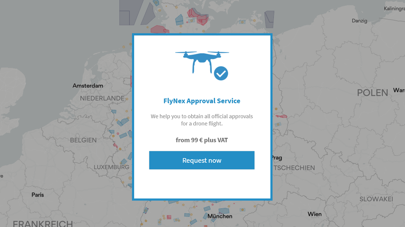 FlyNex Approval Service Map2Fly