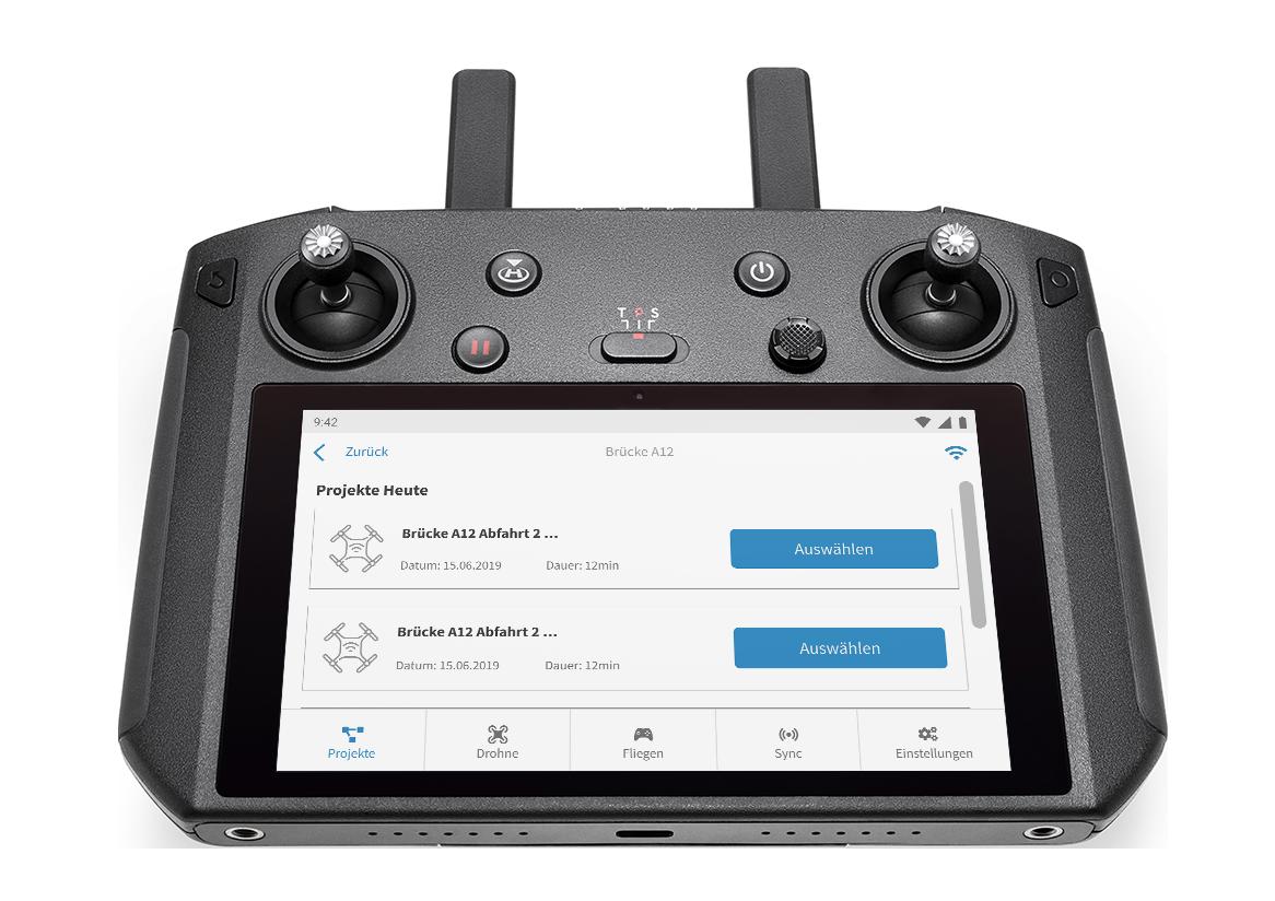 DJI Smart Controller mit FlyNex Connect App
