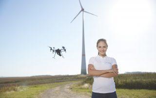 Drone Female Wind Power Job