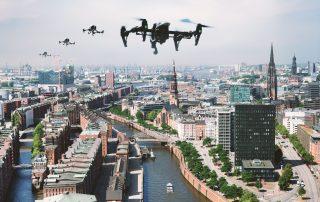 Drohnen über Hamburg