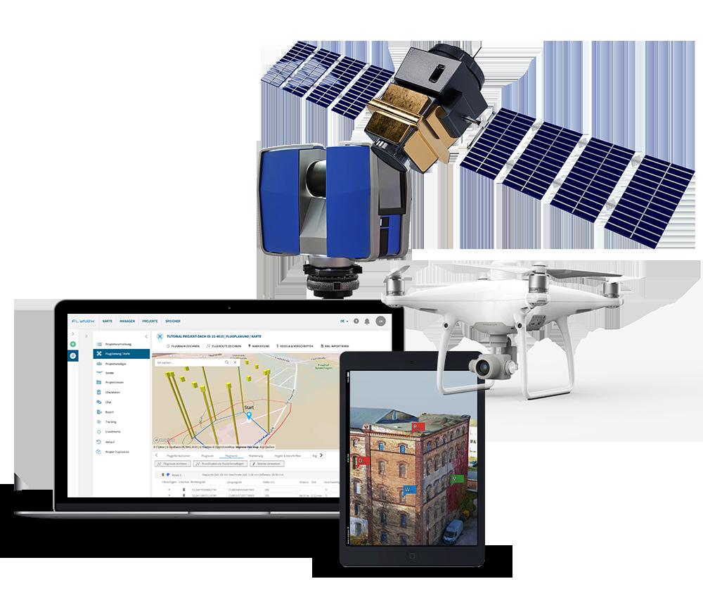 Drohne Sat Lidar Vermessung Daten Software